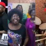 Watch Davido Happily Playing Drums During Praise And Worship Session In Asaba Church [Video] 27