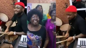 Watch Davido Happily Playing Drums During Praise And Worship Session In Asaba Church [Video] 7