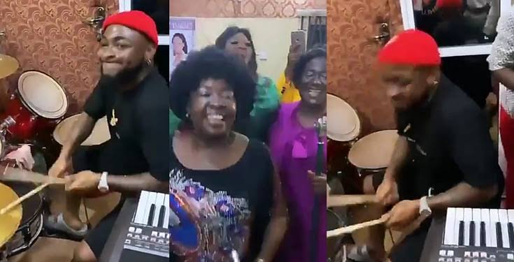 Watch Davido Happily Playing Drums During Praise And Worship Session In Asaba Church [Video] 1