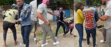 BBNaija's Trikytee And Eric Caught On Camera Fighting A Man In Public Over N5,000 [Video] 29