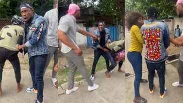 BBNaija's Trikytee And Eric Caught On Camera Fighting A Man In Public Over N5,000 [Video] 13