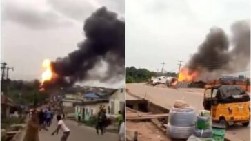 Many Injured, Properties Burnt In Gas Tanker Explosion At Ajuwon Iju-Ishaga Road, Lagos [Video] 2