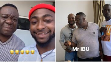 Video: Nollywood Actor, Mr Ibu Visits Davido At His Mansion In Lagos 13