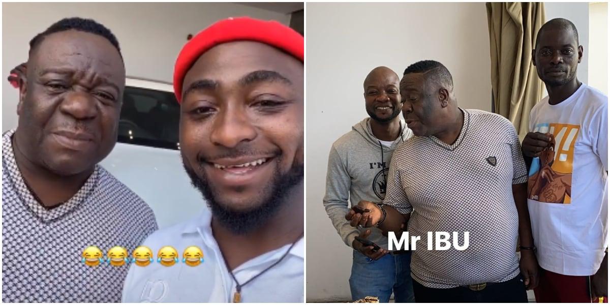 Video: Nollywood Actor, Mr Ibu Visits Davido At His Mansion In Lagos 1
