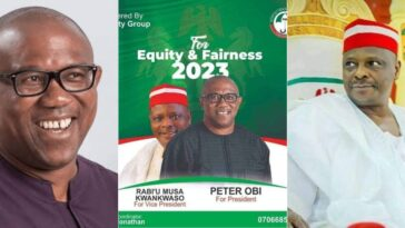 2023 Presidency: PDP's Campaign Poster Of Peter Obi And Kwankwaso Circulates On Social Media 6