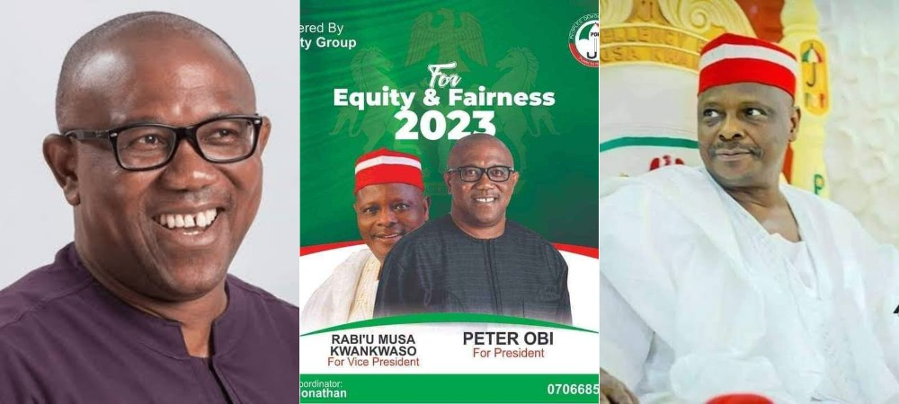 2023 Presidency: PDP's Campaign Poster Of Peter Obi And Kwankwaso Circulates On Social Media 1