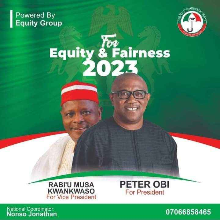 2023 Presidency: PDP's Campaign Poster Of Peter Obi And Kwankwaso Circulates On Social Media 2