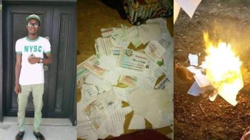 Nigerian Graduate Sets All His Certificates Ablaze Due To His Inability To Secure A Job [Photos] 3