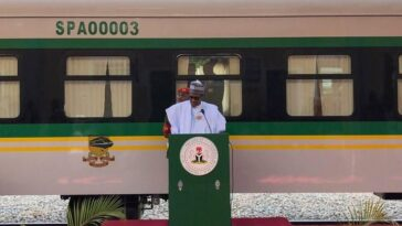 BREAKING: President Buhari Inaugurates Warri-Itakpe Railway Project 11