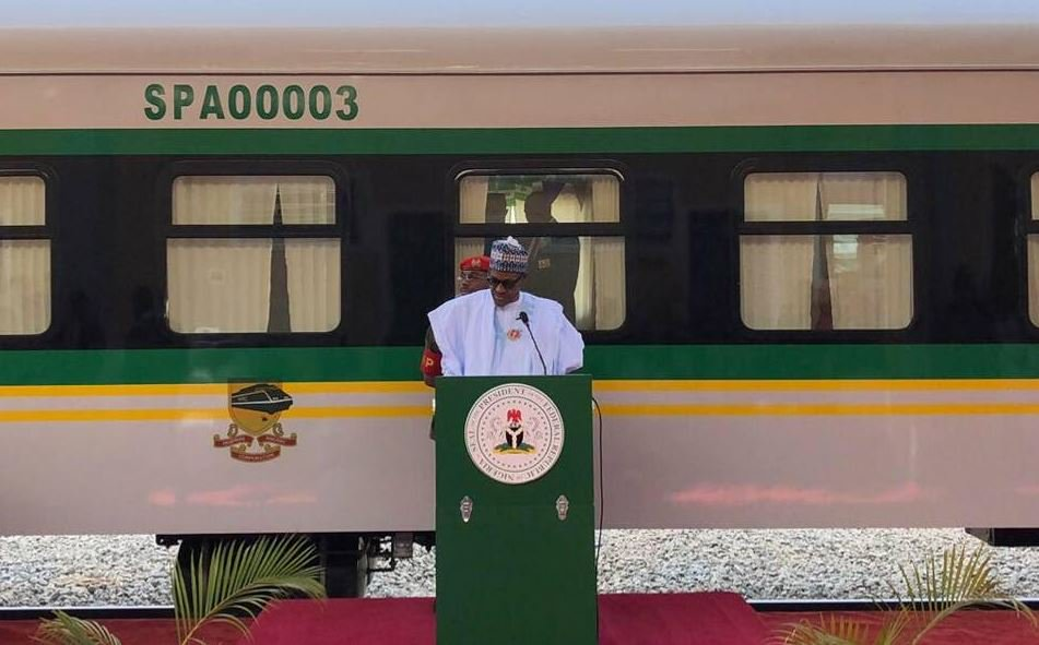 BREAKING: President Buhari Inaugurates Warri-Itakpe Railway Project 1