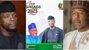 2023 Presidency: APC's Campaign Poster Of Osinbajo And Zulum Circulates On Social Media 7
