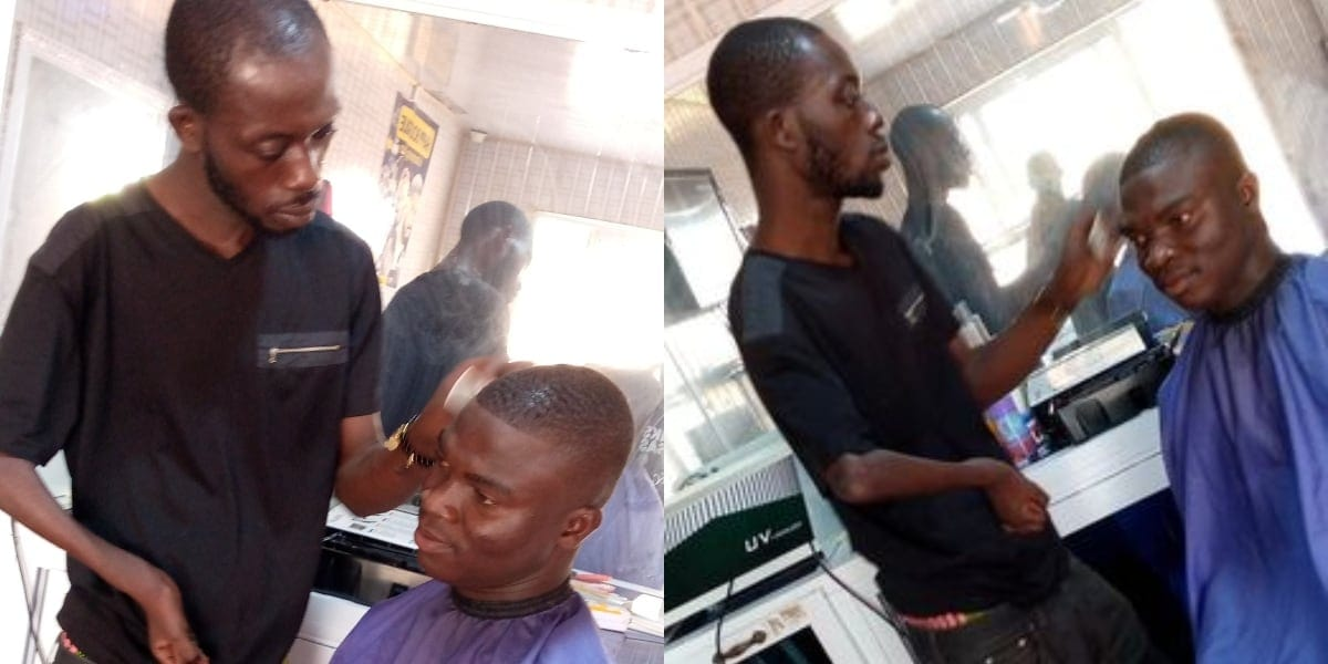 Ghanaian Man Narrates How A Disabled Barber Gave Him The Best Haircut Of His Life 1
