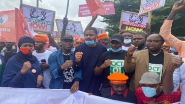 RevolutionNow Protests Hits Abuja, Ibadan On Independence Day Amidst Heavy Security [Photos] 1