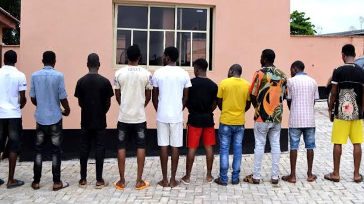 EFCC Arrests 10 Suspected Internet Fraudsters In Ibadan 1