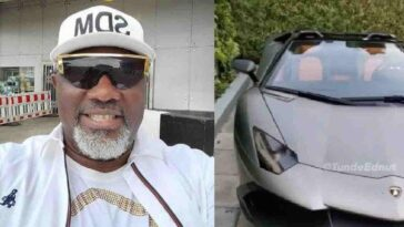 Senator Dino Melaye Acquires N460 Million Lamborghini Aventandor Roadstar Convertible [Video] 12