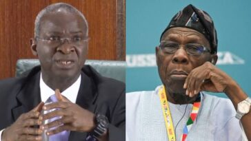Fashola Says Obasanjo Should Have Built Infrastructure, Instead Of Paying Off Nigeria's $12bn Debt 1