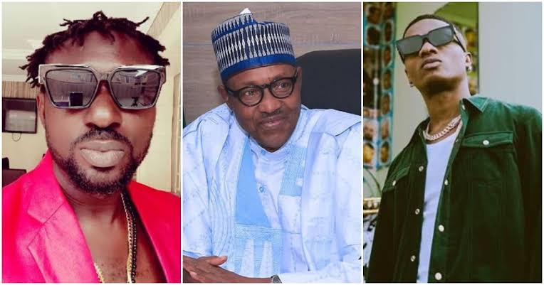 """Why Don't You Face Your Music Small Man"" - Blackface Attacks Wizkid For 'Insulting' Buhari 1"