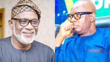 Ondo Election: Governor Akeredolu Rejects Deputy Ajayi's Handshake As They Sign Peace Accord 3