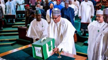 President Muhammadu Buhari Presents Proposed 2021 Budget Of N13.08 Trillion To NASS 4