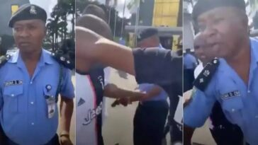 #EndSARS: Police DPO, Obioma Obi Assaults Peaceful Protester With A Loaded Pistol In Owerri [Video] 6