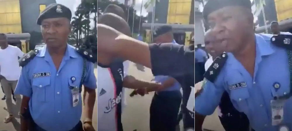 #EndSARS: Police DPO, Obioma Obi Assaults Peaceful Protester With A Loaded Pistol In Owerri [Video] 1