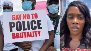 """Stop Relying On Celebrities"" – Tiwa Savage Warns Nigerian Youths As She Joins EndSARS Protest [Video] 6"