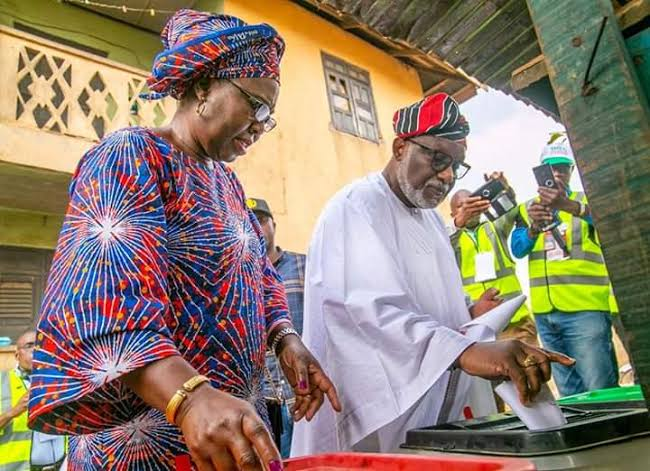 Ondo Election: Gov Akeredolu And Wife Cast Their Votes, Expresses Confidence In Winning 1