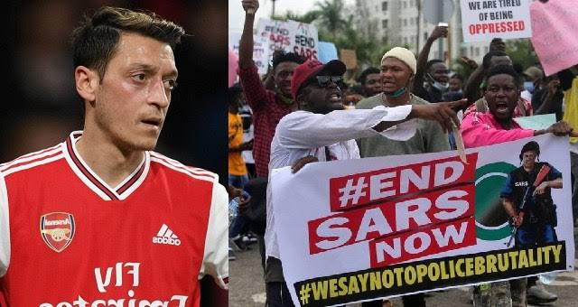 #EndSARS: What Is Going On In Nigeria Is Horrible – Arsenal Player, Mesut Ozil Declares 1