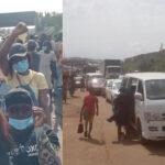 Massive Gridlock As #EndSARS Protesters Shuts Down Iwo Road In Ibadan [Video] 28