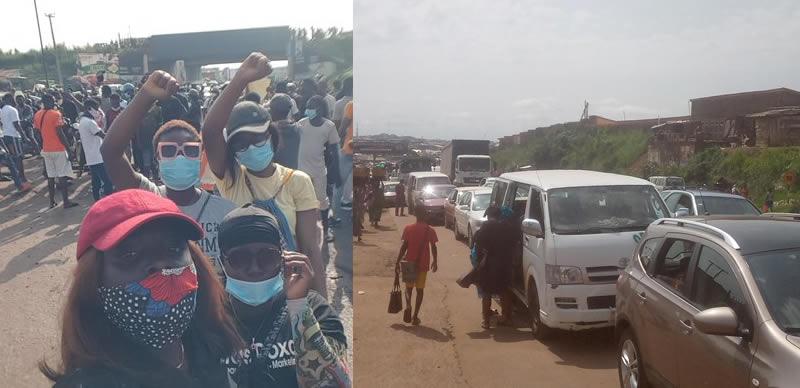 Massive Gridlock As #EndSARS Protesters Shuts Down Iwo Road In Ibadan [Video] 1
