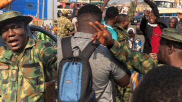 #EndSARS: Nigerian Soldiers Lead Peaceful Protest Against Police Brutality In Ibadan [Photos/Video] 5