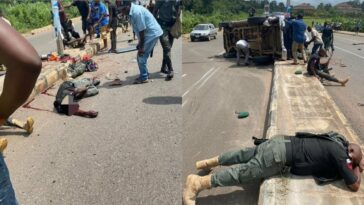 Two Police Officer Dies, Many Other Injured In Fatal Accident At Akure Airport Road [Photos/Video] 2