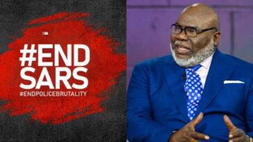 """Injustice Anywhere Is A Threat To Justice Everywhere"" - Bishop TD Jakes Reacts To #EndSARS Protests 4"