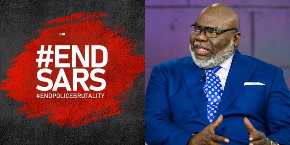 """""""Injustice Anywhere Is A Threat To Justice Everywhere"""" - Bishop TD Jakes Reacts To #EndSARS Protests 1"""