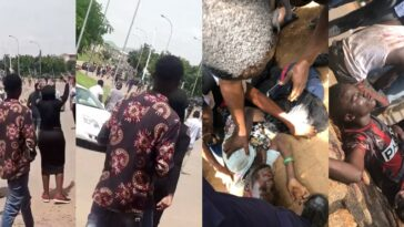 Pro SARS Thugs Attacks Peaceful #EndSARS Protesters In Berger, Abuja [Video] 7