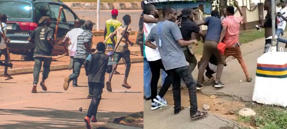 #EndSARS Protest In Alausa Secretariat Disrupted By Weapon Wielding Hoodlums [Video] 1