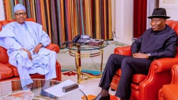 President Buhari Meets Goodluck Jonathan To Discuss Ongoing Political Crisis In Mali 1