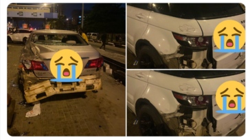 Thugs with PHCN Trailer Rams Into #EndSARS Protesters At Lekki Toll Gate, Destroy Cars [Video + Photos] 1