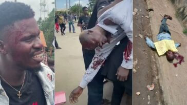 One Dead As Armed Thugs Attacks #EndSARS Protesters With Guns And Machete In Benin [Video] 5