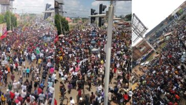 Thousands Of #EndSARS Protesters Walks 30km From Awka To Awkuzu In Anambra [Video] 15