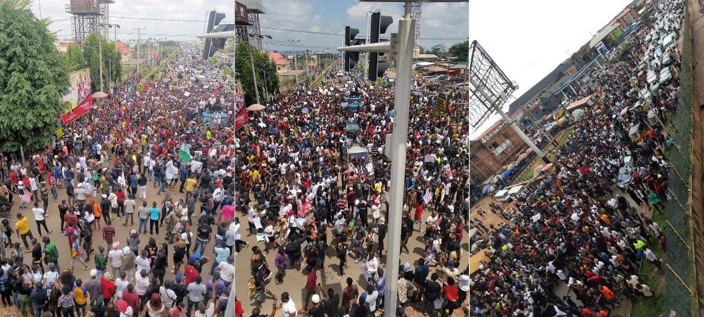 Thousands Of #EndSARS Protesters Walks 30km From Awka To Awkuzu In Anambra [Video] 1