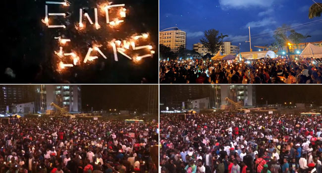 #EndSARS Protesters Hold Candlelight Procession For All Victims Of Police Brutality In Nigeria [Video] 1