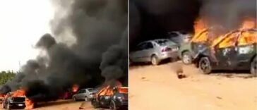 Hoodlums Sets Over 50 Cars Ablaze During #EndSARS Protest In Apo, Abuja [Video] 25