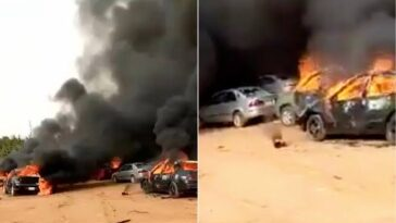 Hoodlums Sets Over 50 Cars Ablaze During #EndSARS Protest In Apo, Abuja [Video] 4