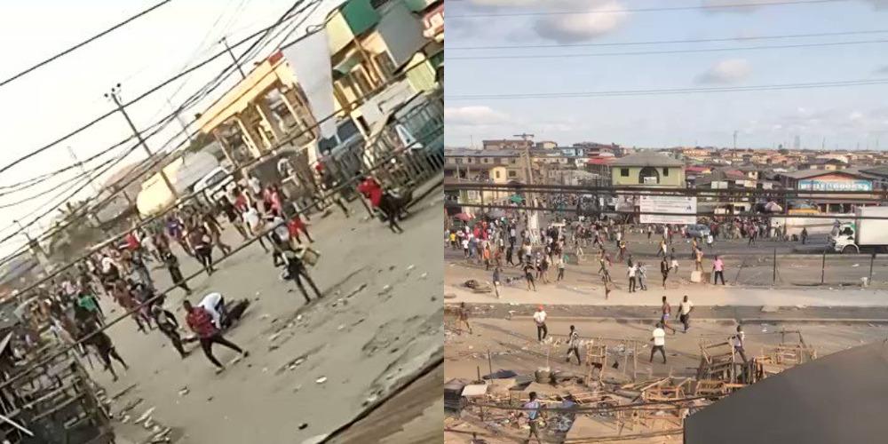 #EndSARS Protest: Armed Thugs Attacking People And Vandalising Properties In Ketu, Lagos [Video] 1