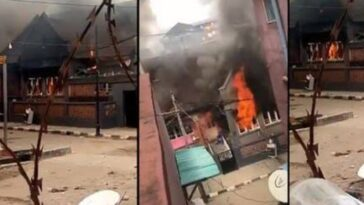 Angry Mob Burns Down Governor Sanwo-Olu's Family House In Lagos Island [Video] 11