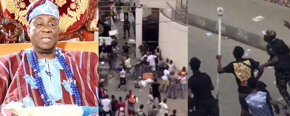 Hoodlums Attacks Oba Of Lagos, Steals His Staff Of Office, Burns His Palace [Video] 1