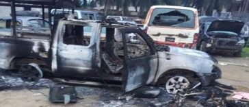 #EndSARS: Hoodlums Burn Police Station and Appeal Court in Rivers State 26