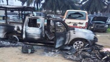 #EndSARS: Hoodlums Burn Police Station and Appeal Court in Rivers State 5