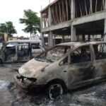 PHOTONEWS: Ajeromi Ifelodun local government council Lagos burnt down by hoodlums 28